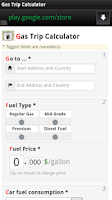 Screenshot of Gas Trip Calculator