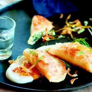 Susan Feniger's Ukrainian Spinach Dumplings