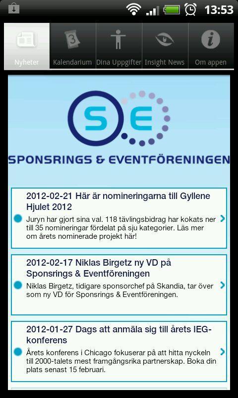 Sponsrings & Eventföreningen– skärmdump