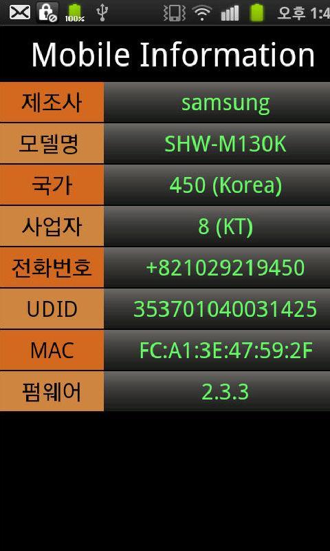 SDM Mobile Info - screenshot