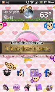Pink Monkey theme GO SMS PRO- screenshot thumbnail