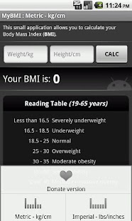 BMI Calculator (free) - screenshot thumbnail