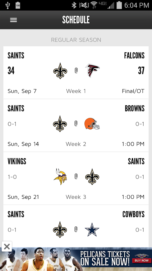 New Orleans Saints Mobile- screenshot