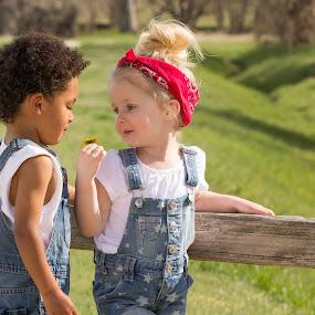 by Richard Saxon - Babies & Children Children Candids ( 3 year old, children, candid, young couple, springtime )