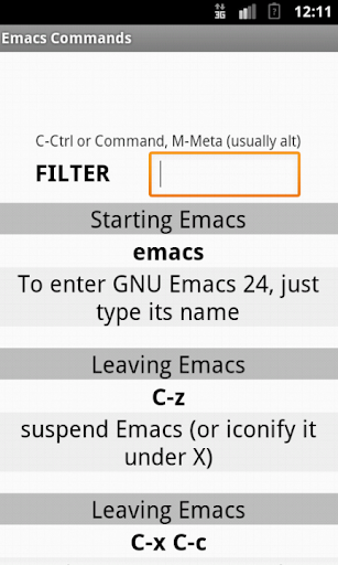 Emacs Commands Cheat Sheet