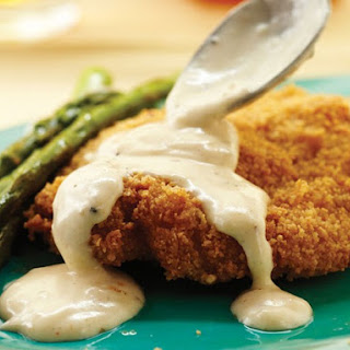 Tupelo Honey Cafe's Nutty Fried Chicken with Milk Gravy.