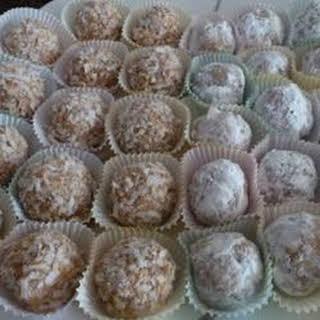 Coconut Rum Balls.