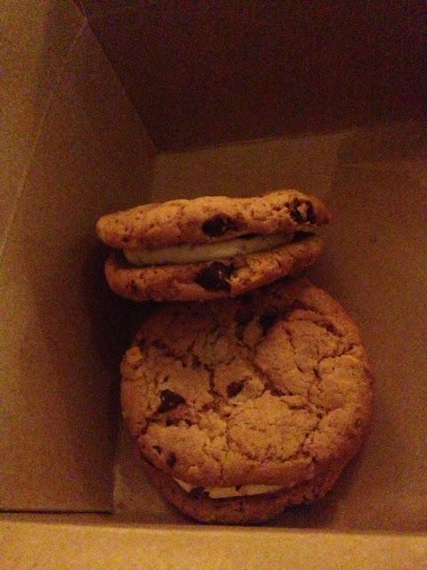 GF chocolate chip sandwich cookies!