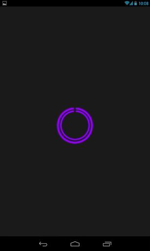 Purple C-Circle Neon Clock