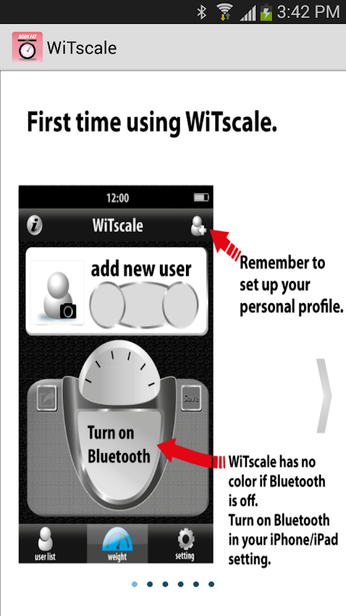 WiTscale Bluetooth Scale- 螢幕擷取畫面
