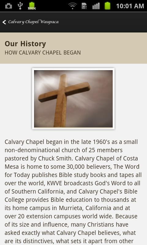 Calvary Chapel Waupaca- screenshot