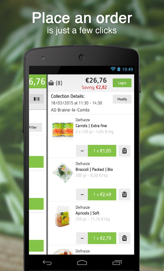 Delhaize- screenshot