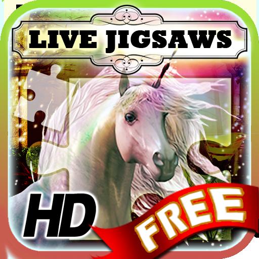 Live Jigsaws Free - Unicorns 休閒 App LOGO-硬是要APP
