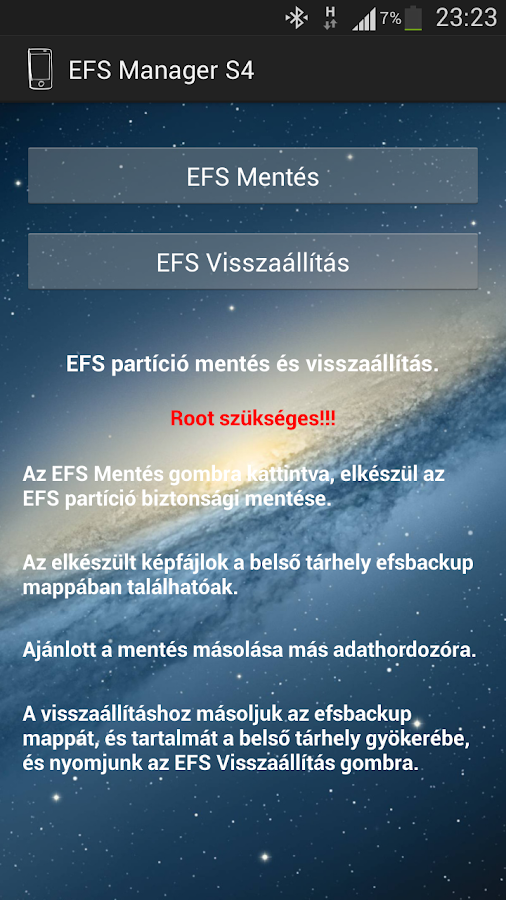 EFS Manager S4 - screenshot