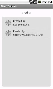 Binary Sudoku - screenshot thumbnail