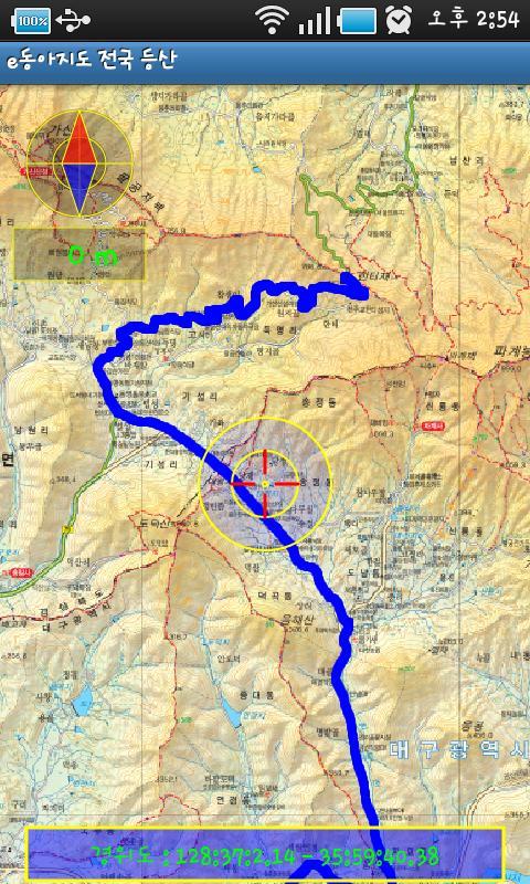 등산지도 산으로가는길 GPS- screenshot