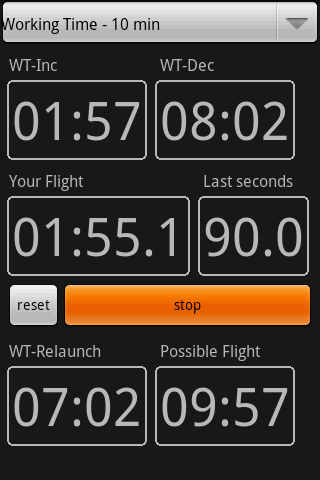 F3J timer - screenshot