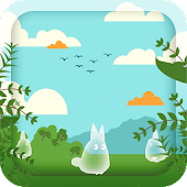 Hurried Totoro Live Wallpaper