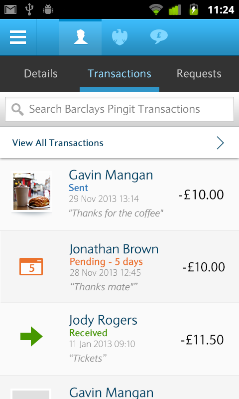Barclays Pingit - screenshot