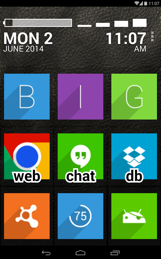 BIG Launcher- screenshot