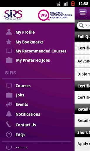 Jobs Courses SIRS