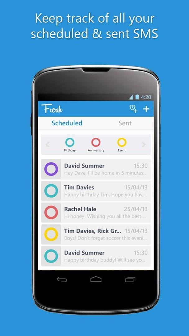 SMS Planer - Fresh - Google Play Store revenue & download es