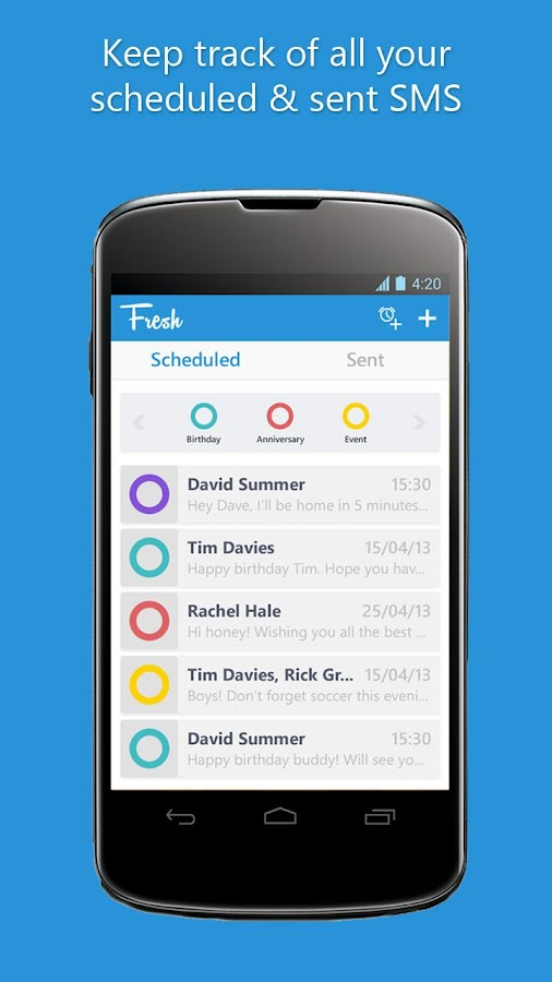 SMS Scheduler - Fresh - screenshot