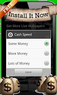 Cash In Hands Live Wallpaper - screenshot thumbnail