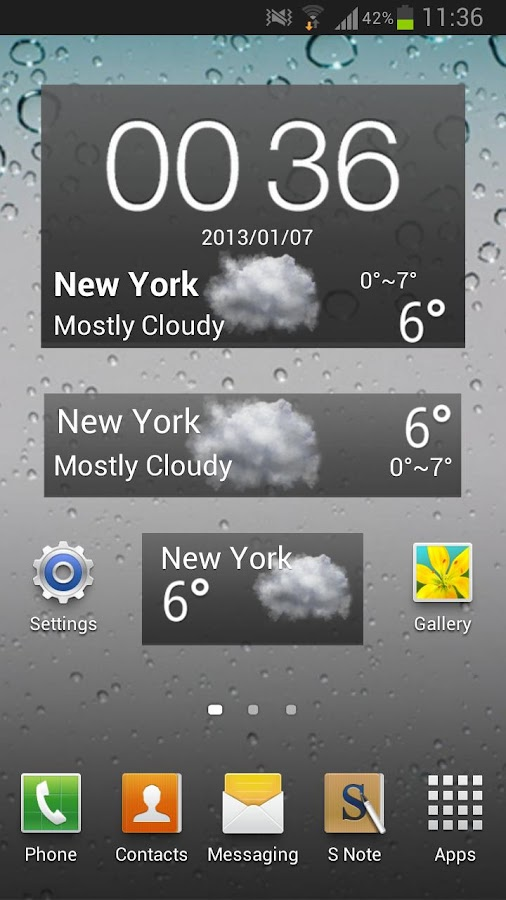 iphone GO Weather EX - screenshot