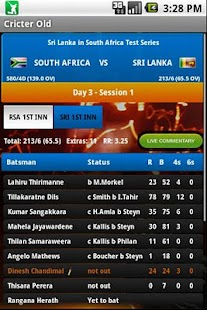 Cricter: Cricket Live Scores - screenshot thumbnail