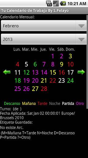 Tu Calendario de Turnos