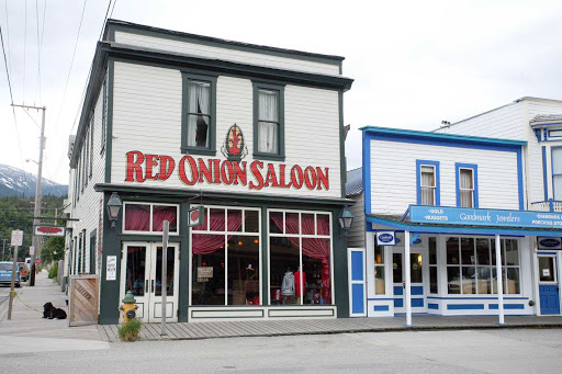 Red-Onion-Skagway-Alaska - The Red Onion Saloon in Skagway, Alaska.