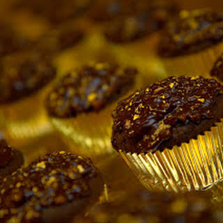 Ferrero Rocher Cupcakes: Rich Chocolate Cupcakes with Hazelnut.
