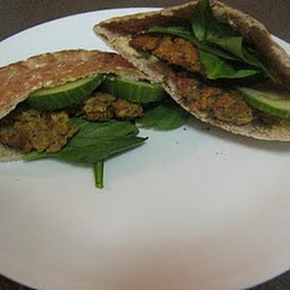 Baked Falafel Pita Sandwich