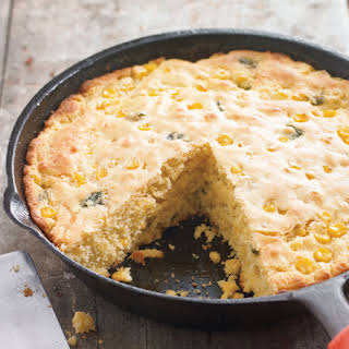 Cheese and Chile Skillet Cornbread.