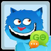 GO SMS Pro Blue Cat Theme