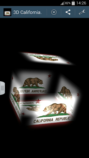 3D California Cube Flag LWP