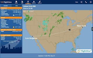 Screenshot of FlightView Elite FlightTracker