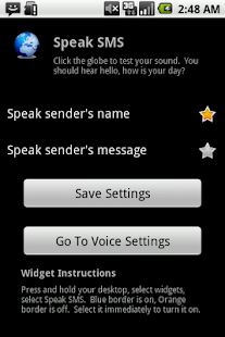 Speak SMS - screenshot thumbnail