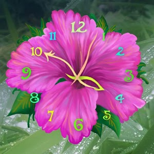 flower-clock-live-wallpaper
