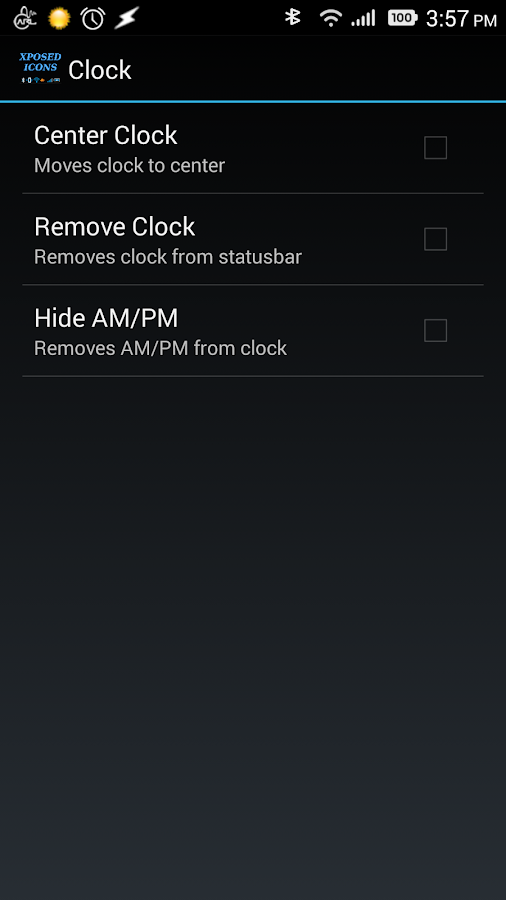 Xposed StatusBar Mods - Sense - screenshot