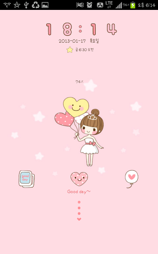 Ballerina go locker theme