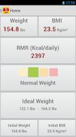 Screenshot of BMI & Weight Control