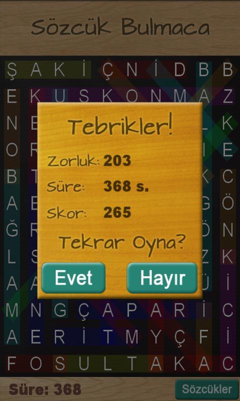Sözcük Bulmaca - screenshot