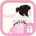 Cute love girl protector theme icon