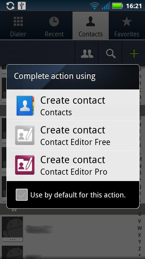 Contact Editor Pro - screenshot