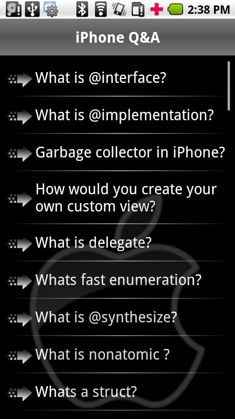 iPhone Interview Questions - screenshot