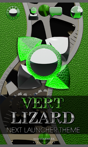 次の緑のトカゲの HD テーマ NEXT