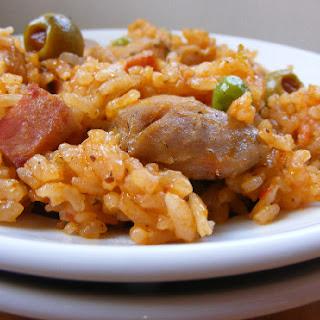 Puerto Rican Rice with Chicken – Arroz con Pollo.