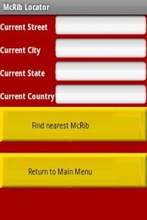McRib Locator - screenshot thumbnail
